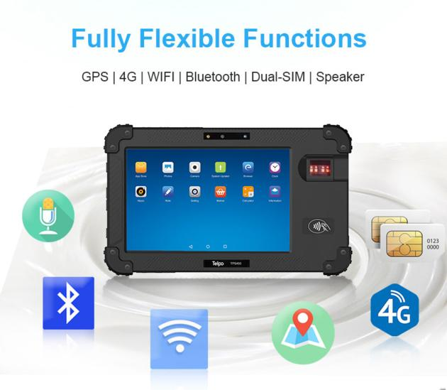 TPS450 Android Biometric Tablet for Protable ID verification