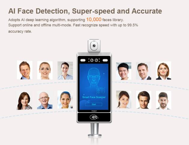 TPS980T Face Recognition Temperature Measuring Device
