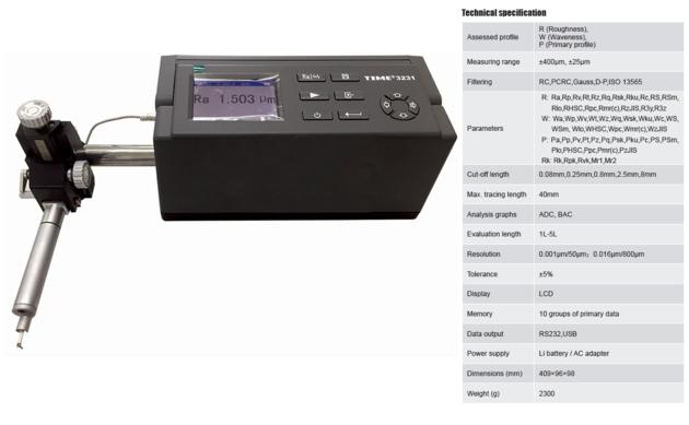 ISO Certified Surface Roughness Waveness Profile Tester TIME¬3231