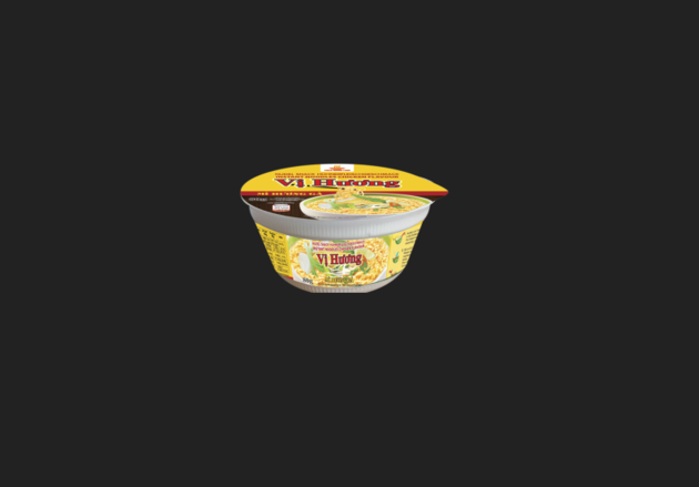 Chicken Flavour Instant Noodles in Bowl