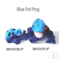 BLUE POT FROG BEAN BAG