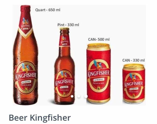 Kingfisher Beer (500 ml) Cans