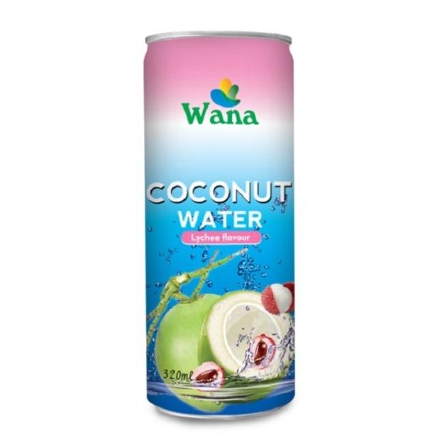 Bulk Coconut Water With Lychee Flavor in 320ml Can - Foreign Trade