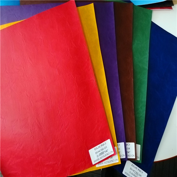 BH4786 Multi-color Embossing polished Synthetic leather 0.6mm*54""