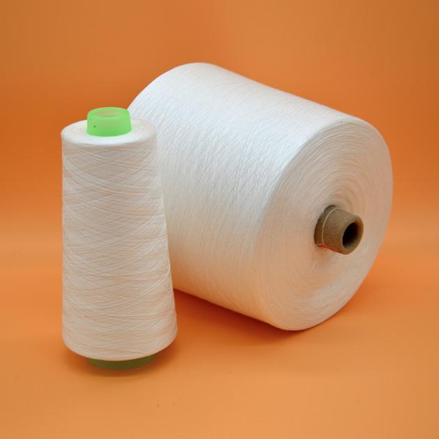 China sewing thread raw white 100% spun polyester yarn 30S/2