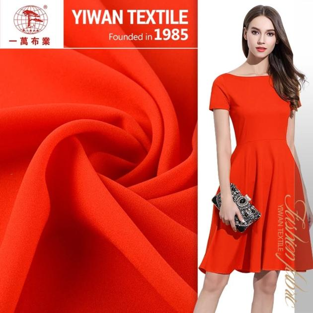 Stock lot cheap and soft clothing chiffon fabric for lady blouses