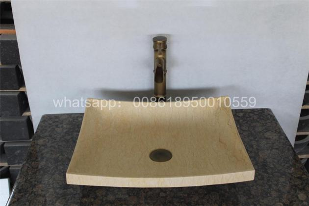Galala Marble bathroom rectangle vessel sinks natural stone wash basin