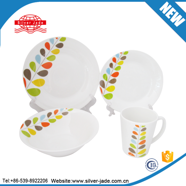 Italian style luminarc ceramic and porcelain tableware dinnerware set gift box