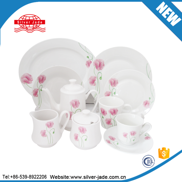 luxury embossed white porcelain hotel table dinnerware corelle