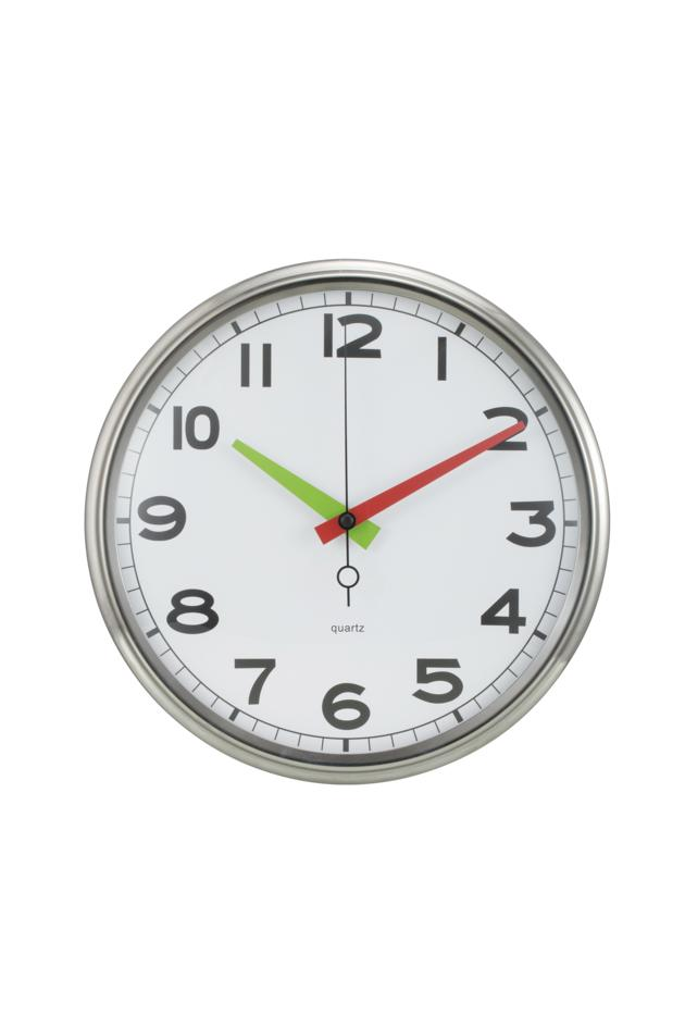 12 Inches Stainless Steel Iron Clock