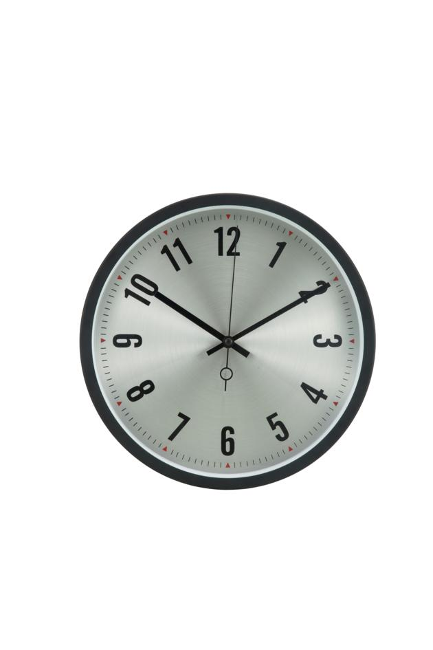 12 inches wall clock with aluminum surface in the iron