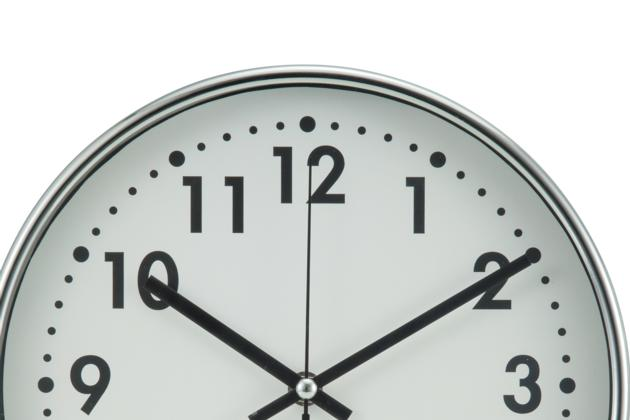 10 Inches Chrome Iron Wall Clock