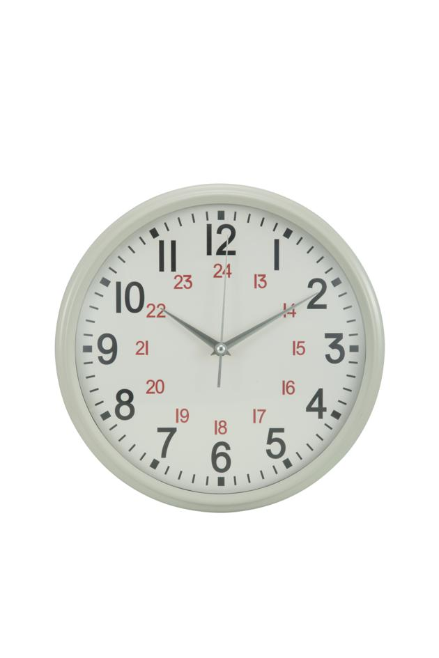12 inches metal wall clock