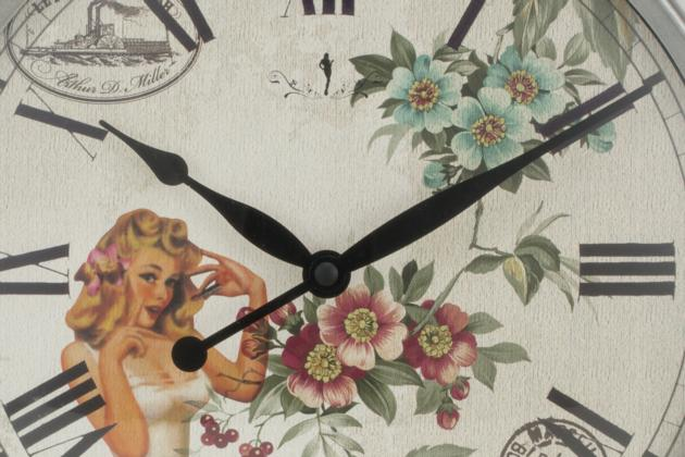 12 Inches Antique Silver Wall Clock