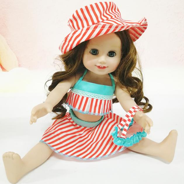Frida pretty cute doll girl clothes for 18 inch vinyl doll accessories