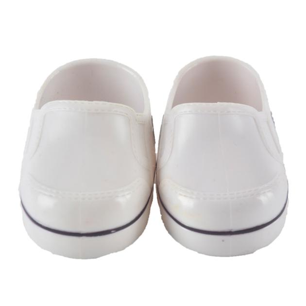 18 inch American girl doll accessory, white plastic shoes bjd doll shoes